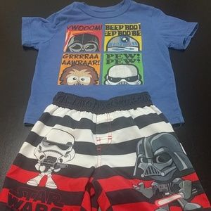 Other - Star Wars t-shirt and swim trunks